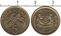 Изображение Барахолка Сингапур 5 центов 2005 Латунь XF+