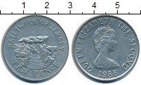 Изображение Барахолка Остров Джерси 10 пенсов 1988 Медно-никель XF