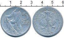 Изображение Дешевые монеты Польша 5 злотых 1959 Алюминий VF