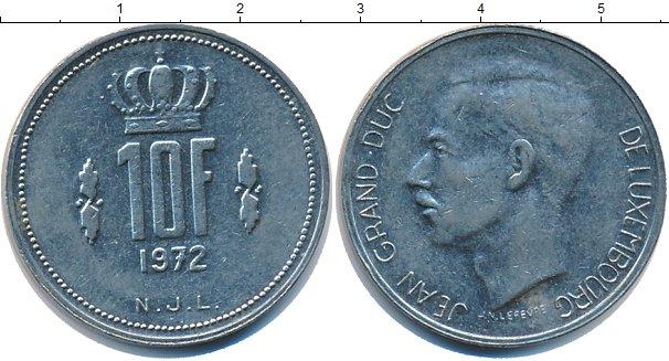 Картинка Дешевые монеты Люксембург 10 франков Медно-никель 1972