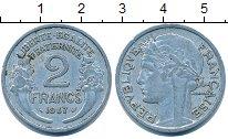 Изображение Дешевые монеты Франция 2 франка 1947 Алюминий VF+