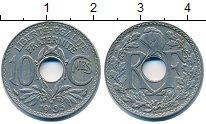 Изображение Барахолка Франция 10 сантим 1935 Медно-никель XF-