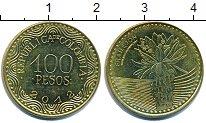 Изображение Дешевые монеты Колумбия 100 песо 2012 Латунь-сталь XF