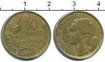 Изображение Дешевые монеты Франция 10 франков 1951 Латунь VF+