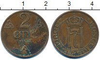 Изображение Дешевые монеты Норвегия 2 эре 1939 Медь VF-
