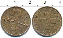 Изображение Дешевые монеты Швейцария 2 раппа 1957 Медь XF-