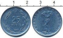 Изображение Дешевые монеты Турция 25 куруш 1960 Медно-никель XF-