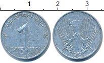 Изображение Барахолка ГДР 1 пфенниг 1952 Алюминий VF