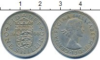 Изображение Барахолка Великобритания 1 шиллинг 1966 Медно-никель XF