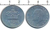 Изображение Дешевые монеты Норвегия 1 крона 1984 Медно-никель XF-
