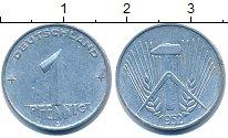 Изображение Дешевые монеты ГДР 1 пфенниг 1952 Алюминий XF+