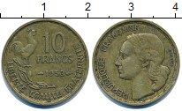 Изображение Дешевые монеты Франция 10 франков 1953 Латунь-сталь VF+