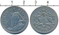 Изображение Дешевые монеты Барбадос 25 центов 1973 Медно-никель XF-