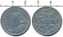 Изображение Дешевые монеты Барбадос 25 центов 1980 Медно-никель XF-