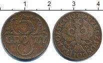 Изображение Дешевые монеты Польша 5 грош 1938 Медь XF