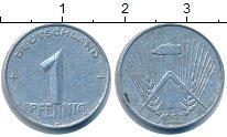 Изображение Барахолка ГДР 1 пфенниг 1952 Алюминий XF