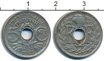 Изображение Дешевые монеты Франция 5 сантим 1923 Медно-никель XF