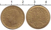 Изображение Дешевые монеты Испания 1 песета 1975 Латунь XF