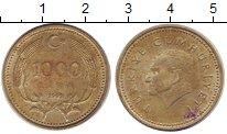 Изображение Дешевые монеты Турция 1.000 лир 1993 Латунь VF