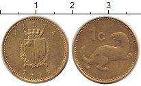 Изображение Дешевые монеты Мальта 1 цент 1995 Латунь VF