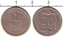 Изображение Барахолка Польша 20 грошей 1997 Медно-никель VF