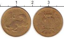 Изображение Дешевые монеты Мальта 1 цент 2004 Латунь VF