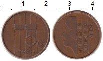 Изображение Дешевые монеты Нидерланды 5 центов 1983 Бронза VF
