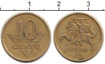 Изображение Барахолка Литва 10 сенти 1998 Латунь VF+