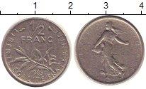 Изображение Барахолка Франция 1/2 франка 1965 Никель VF