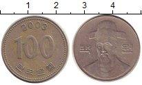 Изображение Дешевые монеты Южная Корея 100 вон 2003 Медно-никель VF