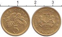 Изображение Дешевые монеты Сингапур 5 центов 1990 Бронза XF-