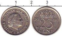 Изображение Барахолка Нидерланды 25 центов 1980 Медно-никель XF