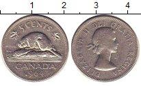 Изображение Дешевые монеты Канада 5 центов 1964 Медно-никель XF-