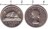 Изображение Дешевые монеты Канада 5 центов 1964 Медно-никель XF