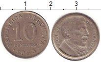 Изображение Барахолка Аргентина 10 сентаво 1953 Медно-никель XF-