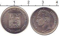 Изображение Дешевые монеты Венесуэла 50 сентим 1989 Медно-никель XF-