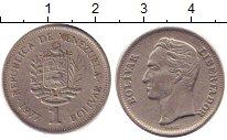 Изображение Дешевые монеты Венесуэла 1 боливар 1977 Медно-никель VF+