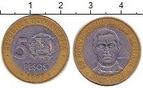 Изображение Барахолка Доминиканская республика 5 песо 1997 Биметалл XF