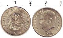Изображение Дешевые монеты Гаити 5 сентим 1975 Медно-никель XF