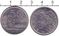 Изображение Дешевые монеты Бразилия 50 сентаво 1976 нержавеющая сталь XF