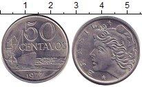 Изображение Дешевые монеты Бразилия 50 сентаво 1977 нержавеющая сталь XF