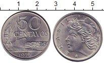 Изображение Дешевые монеты Бразилия 50 сентаво 1977 нержавеющая сталь XF+