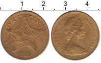 Изображение Барахолка Багамские острова 1 цент 1966 Латунь XF+