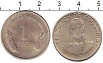 Изображение Дешевые монеты Колумбия 1 песо 1975 Медно-никель XF
