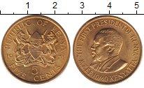 Изображение Барахолка Кения 5 центов 1971 Латунь UNS-