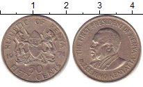 Изображение Барахолка Кения 50 центов 1971 Медно-никель XF+