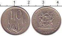 Изображение Дешевые монеты ЮАР 10 центов 1977 Медно-никель XF