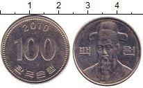 Изображение Дешевые монеты Южная Корея 100 вон 2010 Медно-никель XF