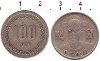 Изображение Барахолка Южная Корея 100 вон 1979 Медно-никель XF