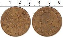 Изображение Барахолка Кения 10 центов 1977 Латунь XF